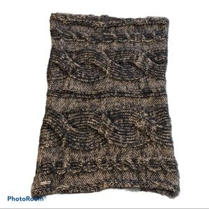 Steve Madden neck warmer infinity scarf cable knit